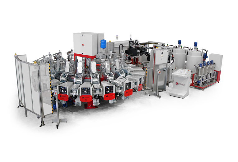 KRONOS - PU pouring machine for soles manufacturing