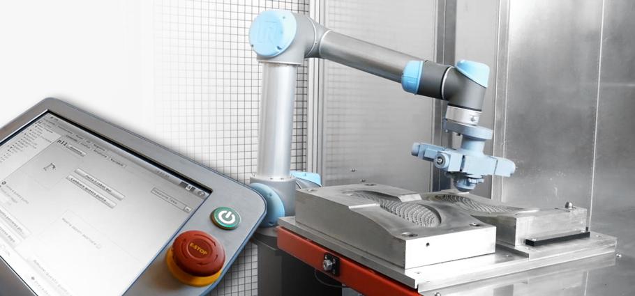 Robot collaborativo di apprendimento percorso spruzzatura