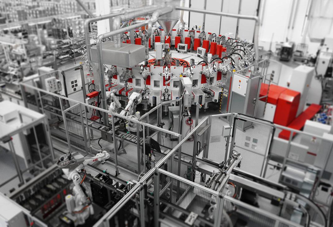 PRO-TRAC linea automatica di produzione scarpe in poliuretano